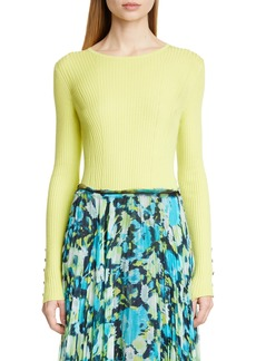 Jason Wu Collection Rib Knit Cashmere & Silk Sweater