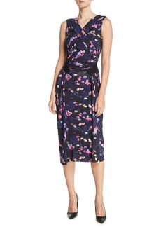 Jason Wu Collection Sleeveless V-Neck Floral-Print Jersey Day-to-Evening Dress