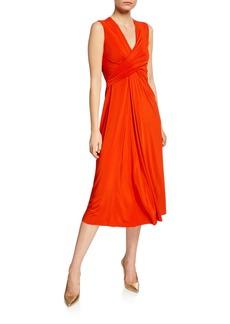 Jason Wu Collection V-Neck Draped Fluid Jersey Dress