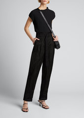 Jason Wu Collection Washed Sateen High-Rise Pants