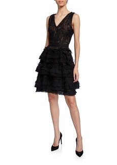 Jason Wu Collection Water Lace V-Neck Cocktail Dress