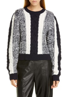 Jason Wu Colorblock Cable Sweater