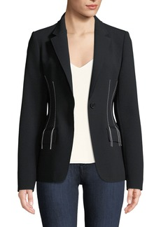 Jason Wu Compact Crepe Blazer Jacket