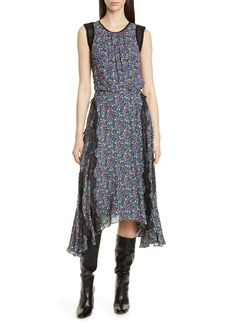 Jason Wu Confetti Lace Shark Bite Hem Dress