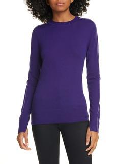 Jason Wu Contrast Stripe Merino Wool Sweater