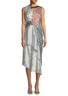 Jason Wu Crinkle Silk Sleeveless Knot Dress