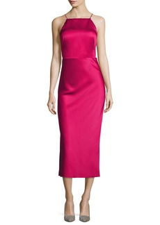 Jason Wu Crisscross-Back Satin Midi Dress