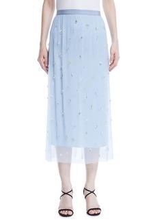 Jason Wu Embellished Tulle Straight Skirt