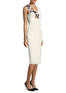 Jason Wu Embroidered V-Neck Dress