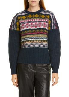 Jason Wu Fair Isle Merino Wool Blend Sweater