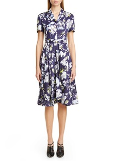 Jason Wu Collection Floral Print Cotton Dress