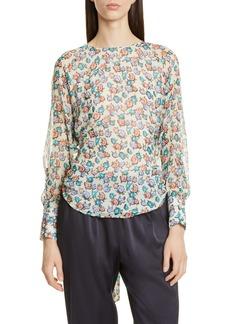 Jason Wu Floral Print Silk Blouse