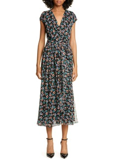 Jason Wu Floral Print Silk Wrap Dress