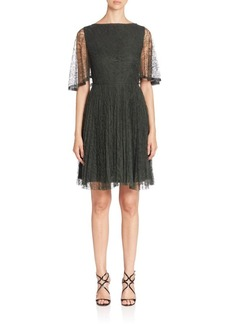 Jason Wu Flutter-Sleeve Lace Cocktail Dress