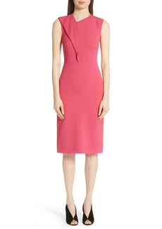 Jason Wu Fold Detail Compact Crepe Dress