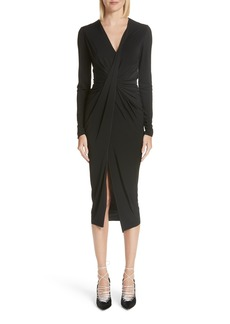 Jason Wu Gather Detail Jersey Midi Dress
