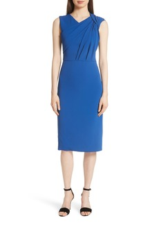 Jason Wu Gathered Bodice Stretch Crepe Sheath Dress