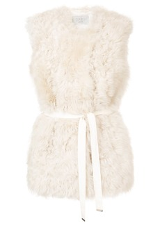 Jason Wu GREY belted shearling gilet - Nude & Neutrals