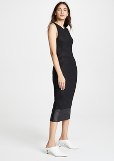Jason Wu Grey Crew Neck Midi Dress