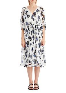 Jason Wu Floral Chiffon V-Neck Dress