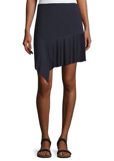 Jason Wu GREY Miniskirt w/ Asymmetric Pleated Hem