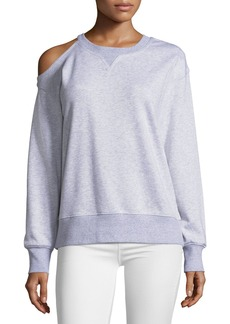 Jason Wu GREY Oversized Cold-Shoulder Sweatshirt