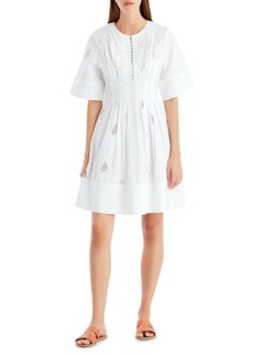 Jason Wu GREY Ribbon Eyelet A-Line Dress