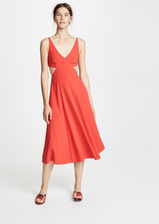 Jason Wu Grey Satin Back Crepe Cutout Dress
