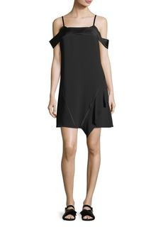 Jason Wu Satin-Backed Crepe Cold-Shoulder Dress