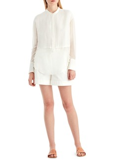 Jason Wu GREY Silk Voile Button-Front Blouse