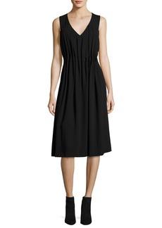 Jason Wu GREY Sleeveless Midi Dress w/ Gathered Pleats