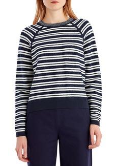 Jason Wu GREY Striped Crewneck Sweater