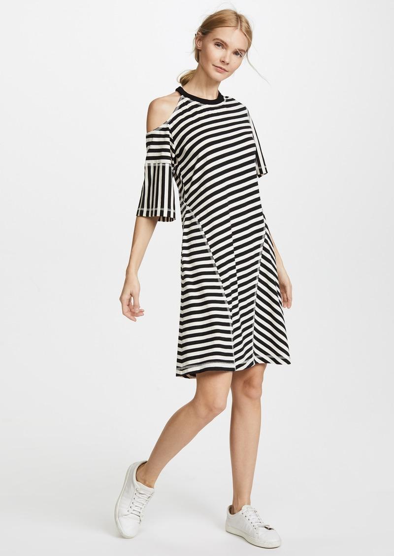 2f77c01b17b0 On Sale today! Jason Wu Jason Wu Grey Striped Jersey Cold Shoulder Dress