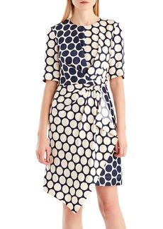 Jason Wu GREY Twist-Front Dot-Print Silk Dress