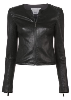 Jason Wu GREY zipped biker jacket - Black