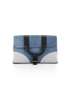 Jason Wu Hanne Suede & Leather Clutch Bag
