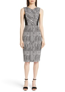 Jason Wu Herringbone Jacquard Sheath Dress