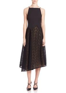 Jason Wu Herringbone Lace Midi Dress