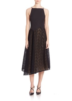 Jason Wu Herringbone Lace Midi Dress
