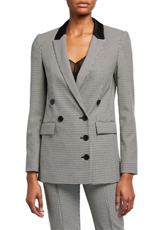 Jason Wu Houndstooth Double-Breasted Blazer