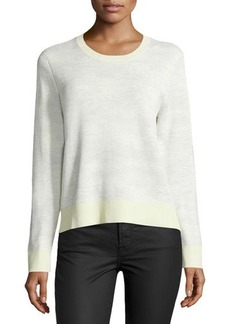 Jason Wu Long-Sleeve Abstract-Striped Pullover