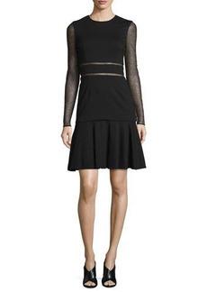 Jason Wu Long-Sleeve Lace-Inset Dress