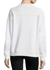 Jason Wu Long-Sleeve Lace-Inset Sweatshirt