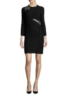 Jason Wu Mesh-Inset 3/4-Sleeve Sheath Dress