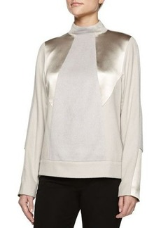 Jason Wu Mock-Neck Alpaca-Blend Pullover