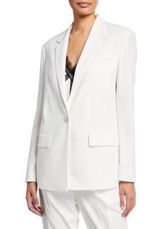 Jason Wu One-Button Satin Back Crepe Jacket