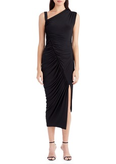 Jason Wu One-Shoulder Ruched Jersey Asymmetric Cocktail Dress