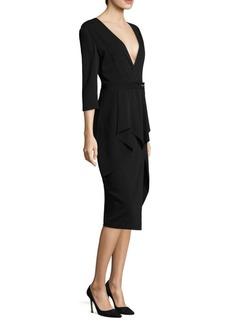 Jason Wu Pinstripe V-Neck Dress