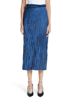Jason Wu Pleated Satin Skirt