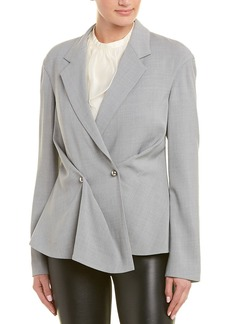 Jason Wu Pleated Silk-Lined Wool-Blend Jacket